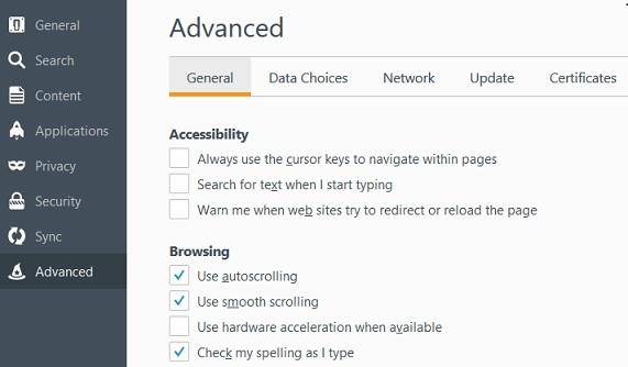 Désactiver l'accélération matérielle dans Mozilla Firefox