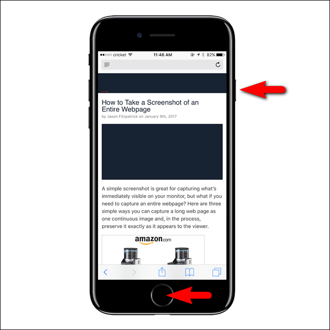 Imprime ecran sur Iphone