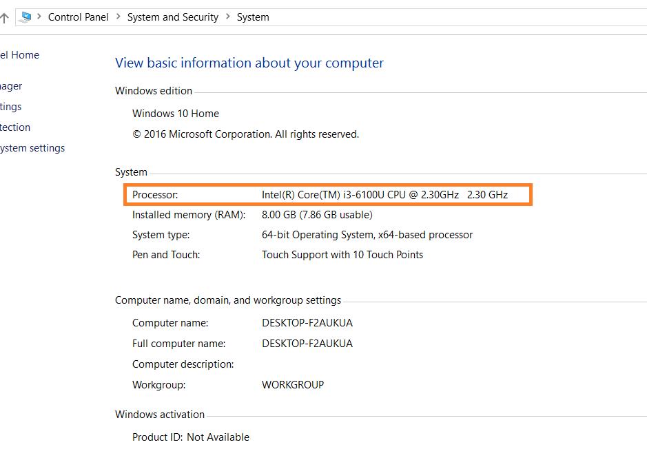 Connaitre la Vitesse processeur dans Windows