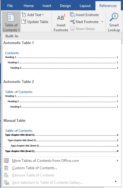 Comment Creer Une Table Des Matieres A Un Document Word
