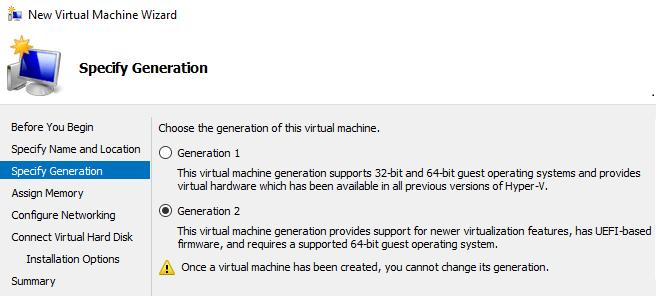 Génération du machine virtuelle