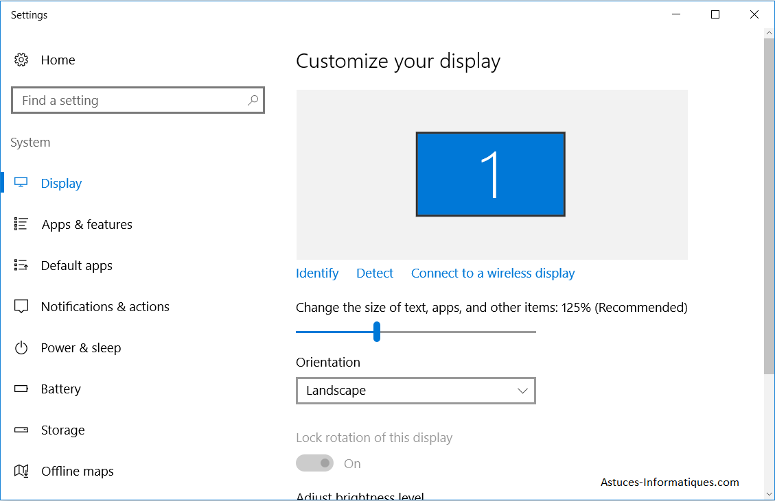 Changer taille icon dans Windows 10