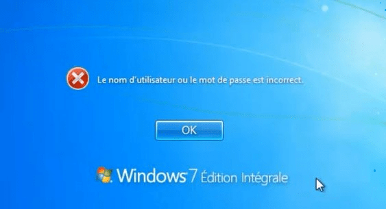 Mot de passe oublié de Windows