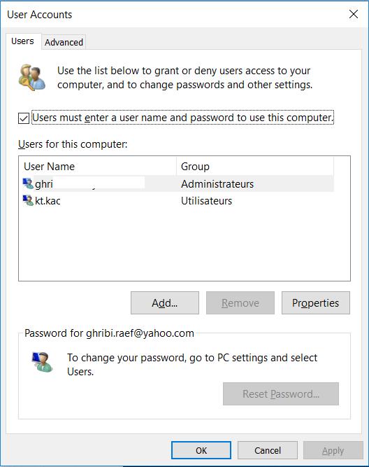 Désactiver écran de verrouillage dans Windows 10