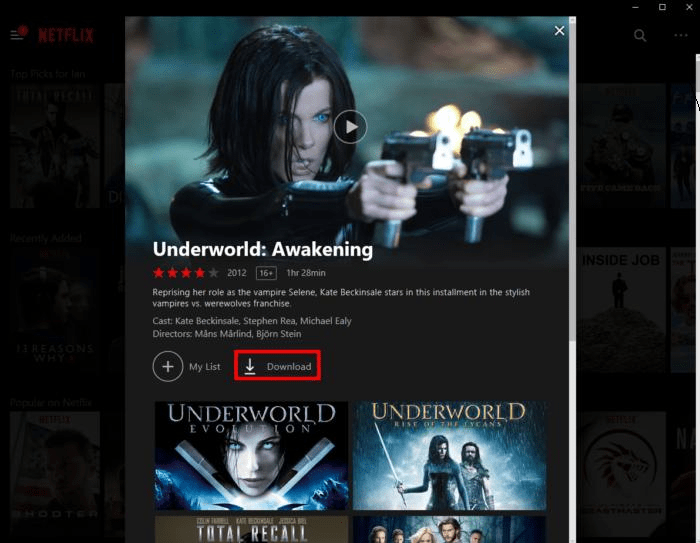 Regarder Netflix hors ligne