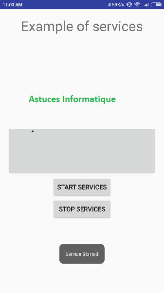 Android, Les services