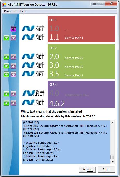 asof net pour détécter la version de Plateforme dot net