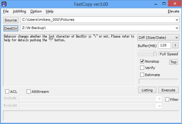 fastCopy - outils copiage fichier