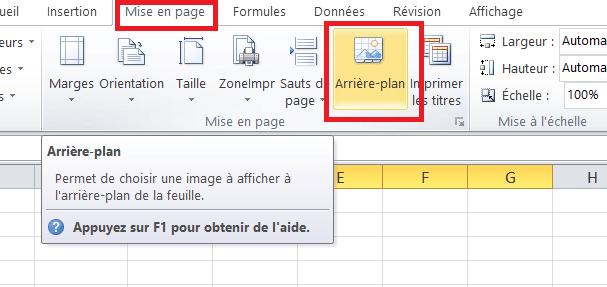 Utilisez Une Image Comme Fond D Ecran Dans Microsoft Excel