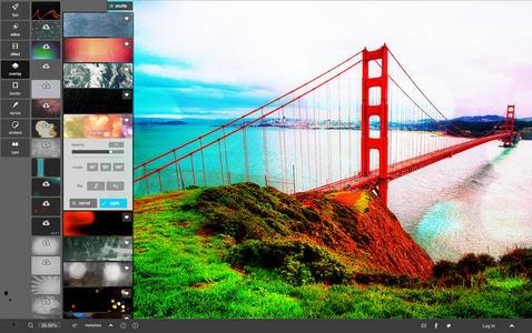 Pixlr écran d'accueil