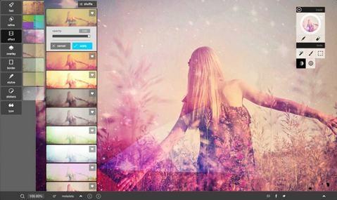 Pixlr, modifier bordure