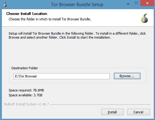 Installer navigateur TOR