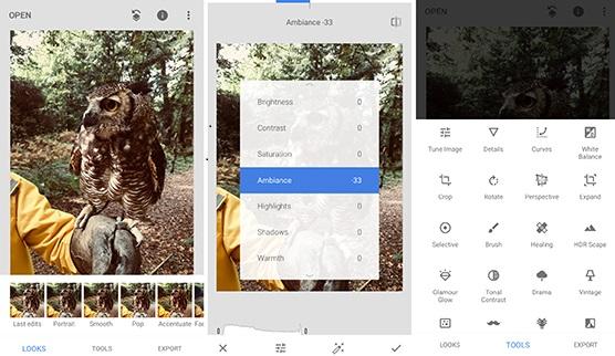 Meilleures applications de retouche photo Snapseed
