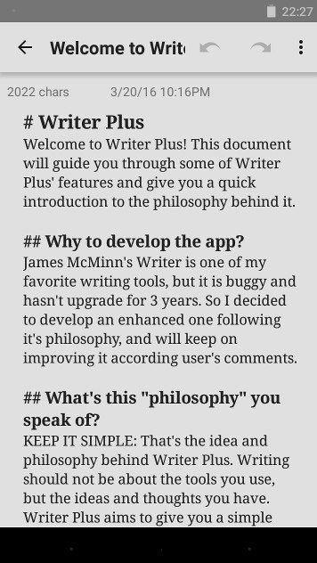 Android écriture - Writer plus
