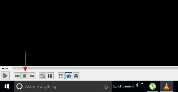 VLC, enregistrer vidéo, stop/play