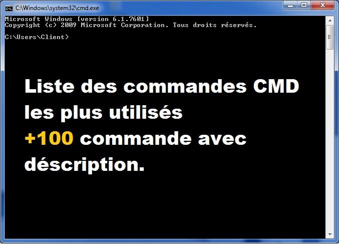 Liste des commandes CMD les plus utilisés