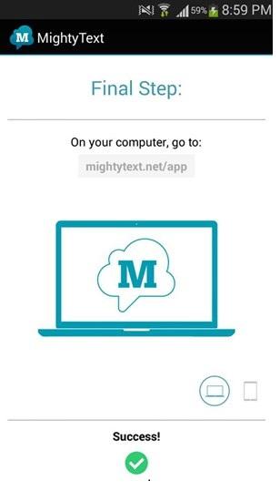 Envoyer des SMS avec Mighty Text