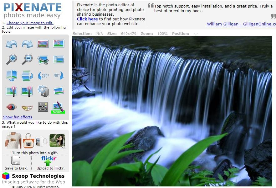 Pixenate - Comment modifier vos photos sur PC sans aucun logiciel