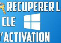 Récupérer les clés de production dans Windows