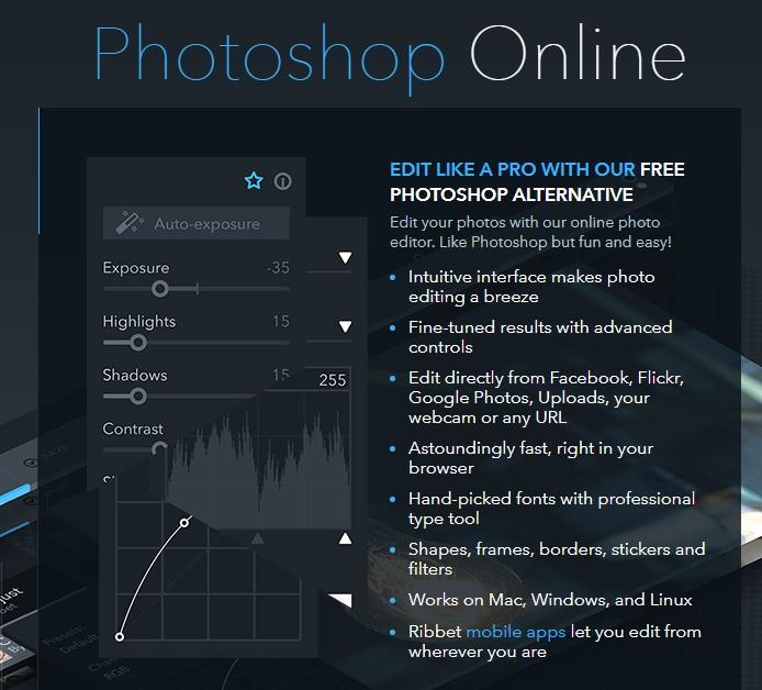 Ribbet - Comment modifier vos photos sur PC sans aucun logiciel