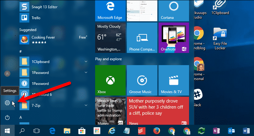 Ouvrir les paramètres du PC