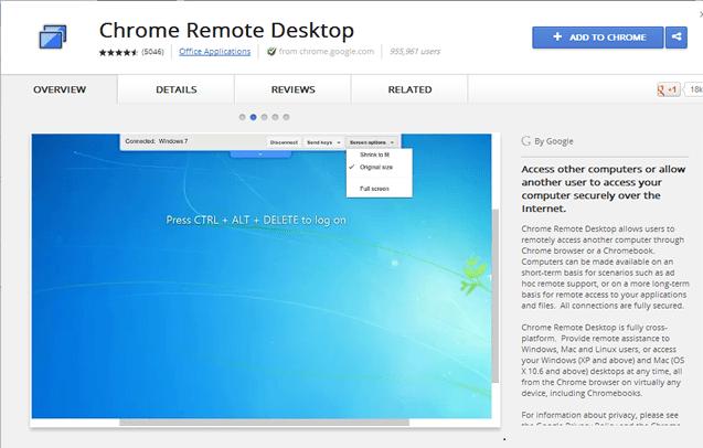 Accès à distance à l'ordinateur avec Google Chrome