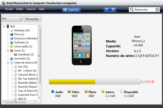 Transfert photos de iPhone vers PC