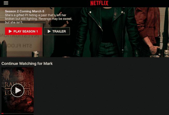 Effacer l'historique de visualisation dans Netflix