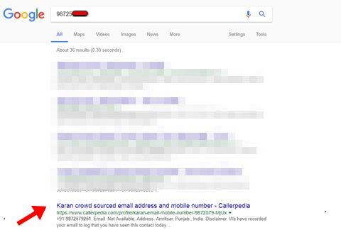 Trouver le numéro d'une personne en ligne