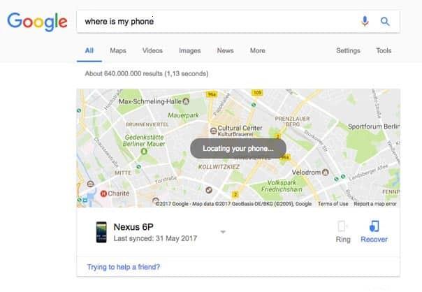 Trouver mon téléphone perdu avec Google