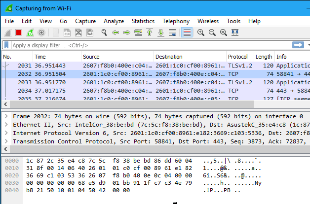 wireshark-capture-packets