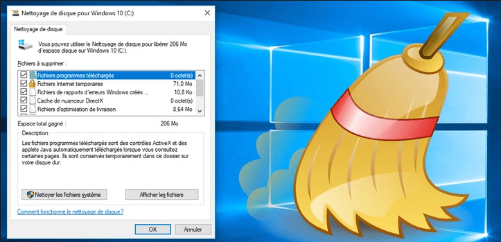 libérer espace disque Windows