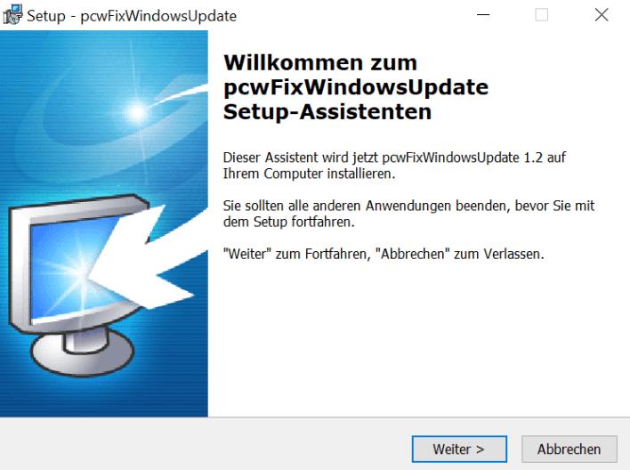 Mise à jour des fenêtres de réparation PC