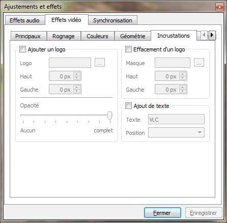 VLC - ajouter filigrane