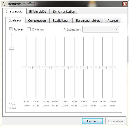 VLC - effets et filtres