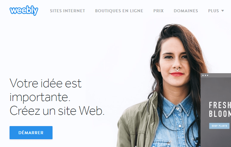 Weebly création site web