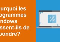 Que faire si Windows cesse de fonctionner