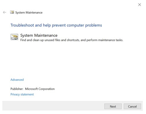 Windows 10 - système maintenance