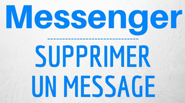 Supprimer message Facebook Messenger
