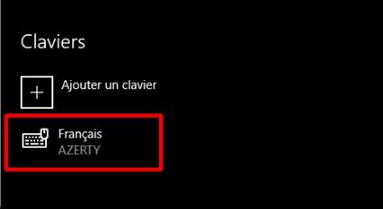 Windows 10 - clavier azerty