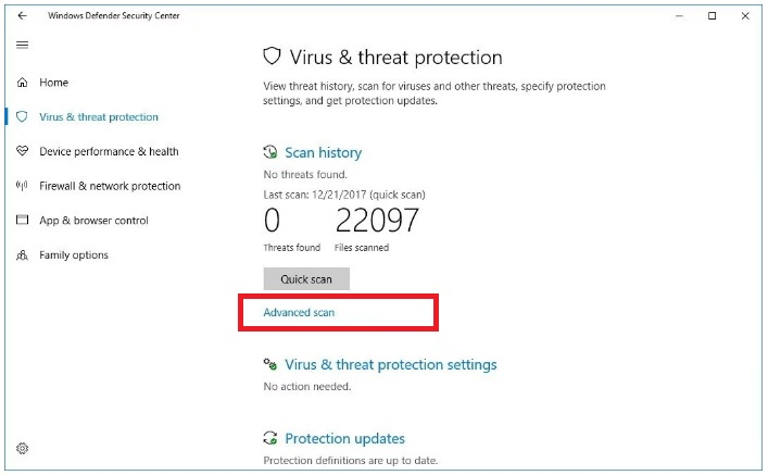 Windows Defender - Windows 10
