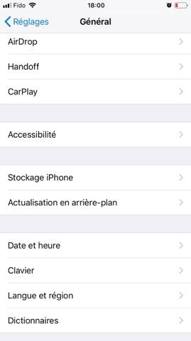 iPhone espace stockage