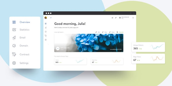 Jimdo - logiciel de création de site web