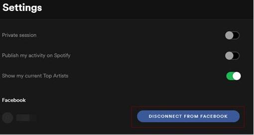 Spotify déconnecter de Facebook