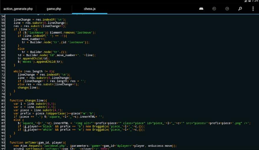 Application mobile - DroidEdit pro