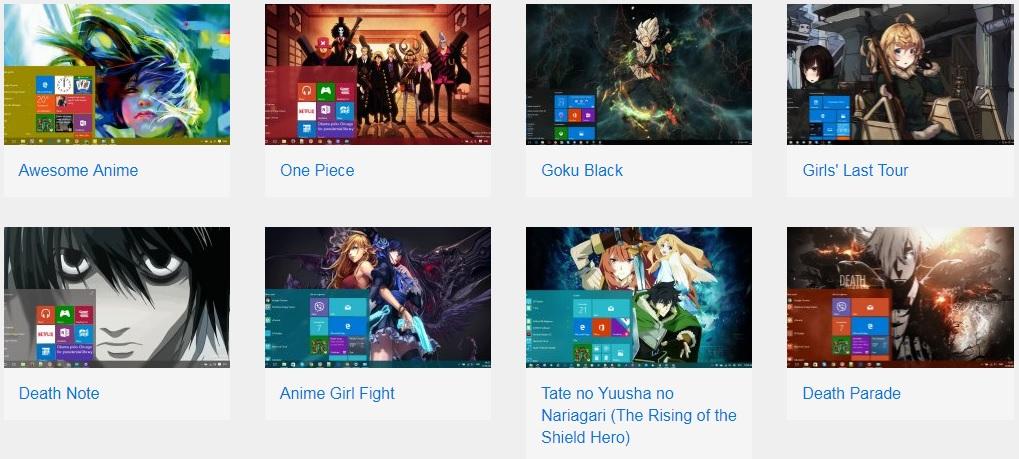 thème anime - Windows 10